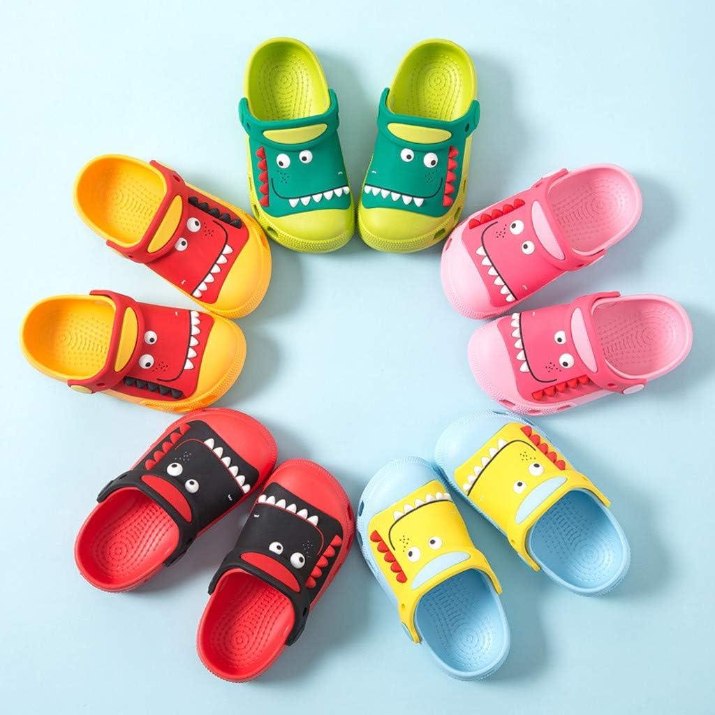 CUEYU Sandali Bambini Zoccoli e Sabot Scarpe Ragazzi Ragazze Unisex,Pantofole per Zoccoli da Giardino di Dinosauri,Sandali per Bambini con Scivolo Antiscivolo