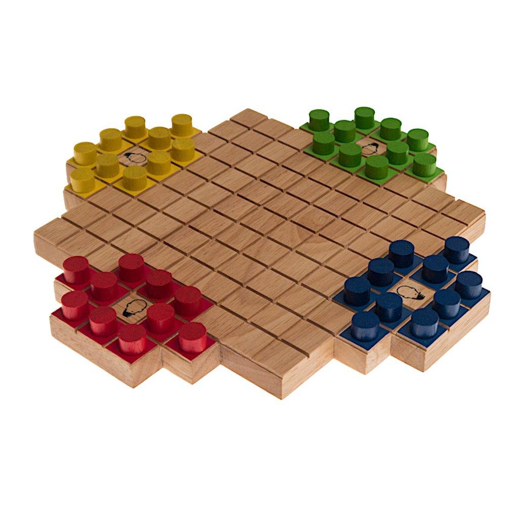 Quattele, (Frank Rehm / Ronald Hild, Deutschland, 2016), Gesellschaftsspiel für 2 oder 4 Personen, Familienspiel, Brettspiel, Gesellschaftsspiel aus Holz