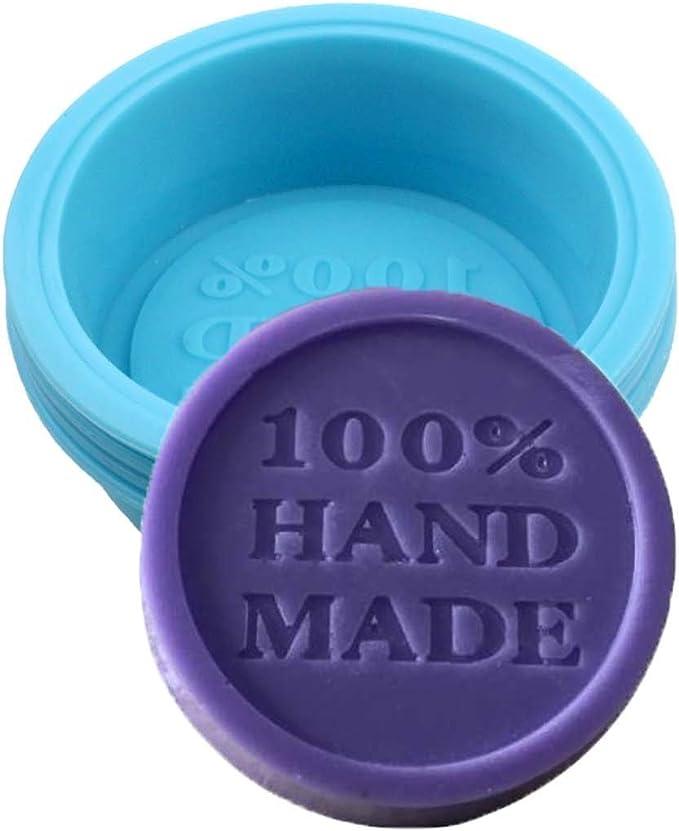 Projets artisanaux cr/éatifs Bricolage fait maison by RIVENBERT Fabriqu/é en silicone pour savon 100/% fait /à la main 16x Moule de savon ovale ronde de 16 carr/és