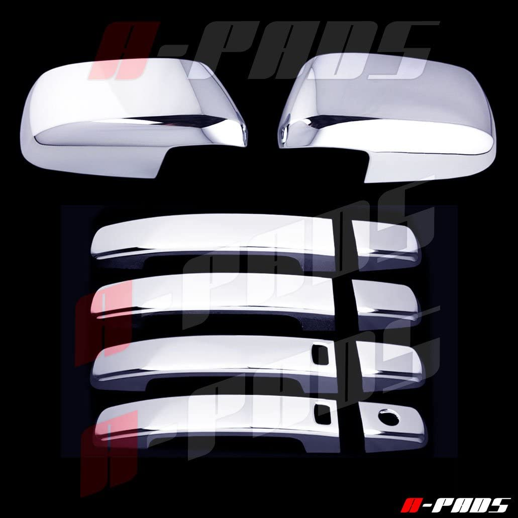 A-PADS 4 Chrome Door Handle Covers for Ford EXPLORER 2011-2016 /& EDGE 2011-2014 WITHOUT Passenger Keyhole /& Smart Keyholes