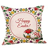 What Is a European King Size Bed iYBUIA Novelty Bunny Easter Pillow Cases Linen Sofa Cushion Cover Home Decor Pillow Case
