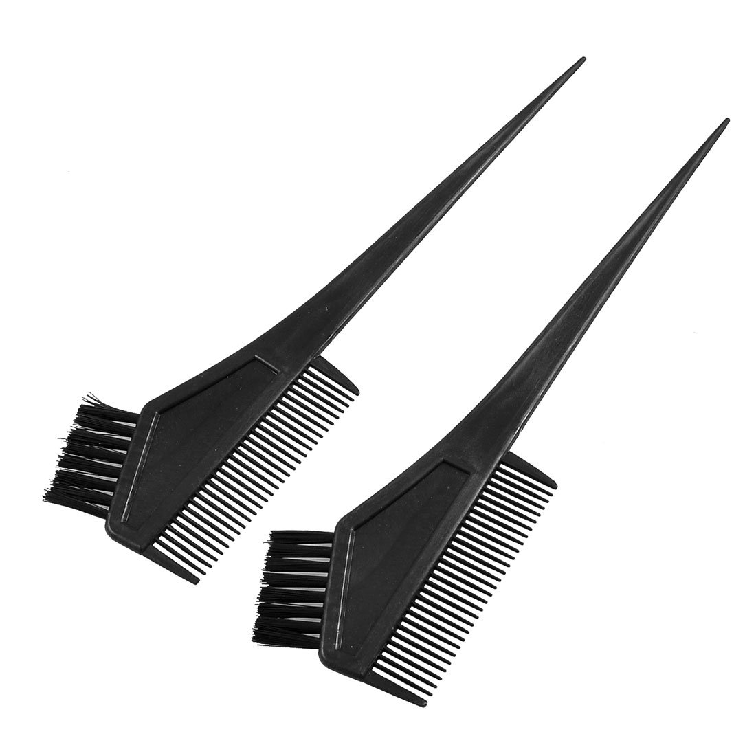 uxcell Plastic Straight Bristle Synthetic Hair Dye Tint Color Coloring Brush Comb Black 2 Pcs a12092400ux1237