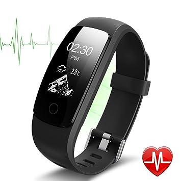 Fitness Tracker ID 107 Plus HR, Tigerhu Pulsera Inteligente Actividad Tracker Podómetro Reloj Fitness Salud