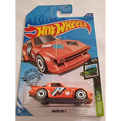 Hot Wheels 2020 Speed Blur Mazda RX-7, Orange 130/250: Toys & Games
