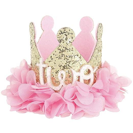 L-DiscountStore Artificial Rosa Flor Princesa del bebé Tiara ...