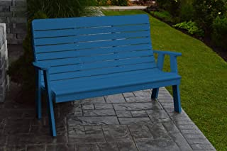 product image for Outdoor Winston Garden Bench - 5 Feet - Blue Poly Lumber