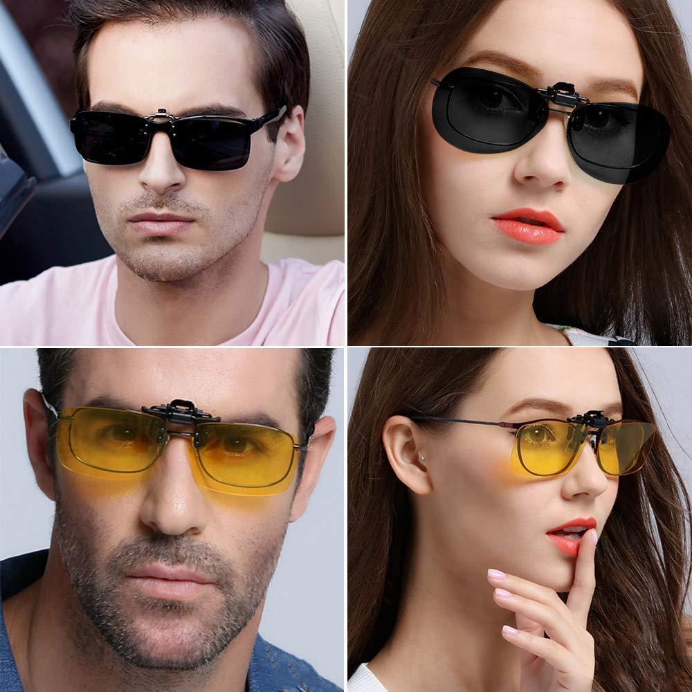 JFan Occhiali da Sole Polarizzati Anti riflesso Antiriflesso UV Protezione Clip-on Sunglasses per Uomo Donna