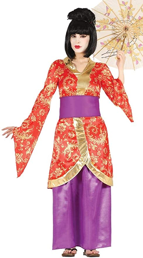 FIESTAS GUIRCA Disfraz de Geisha Artista japonés Artista.: Amazon ...