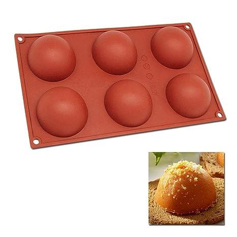 Silicona molde hemisferio, Didadi molde de medio círculo DIY Cake Molde de silicona molde para