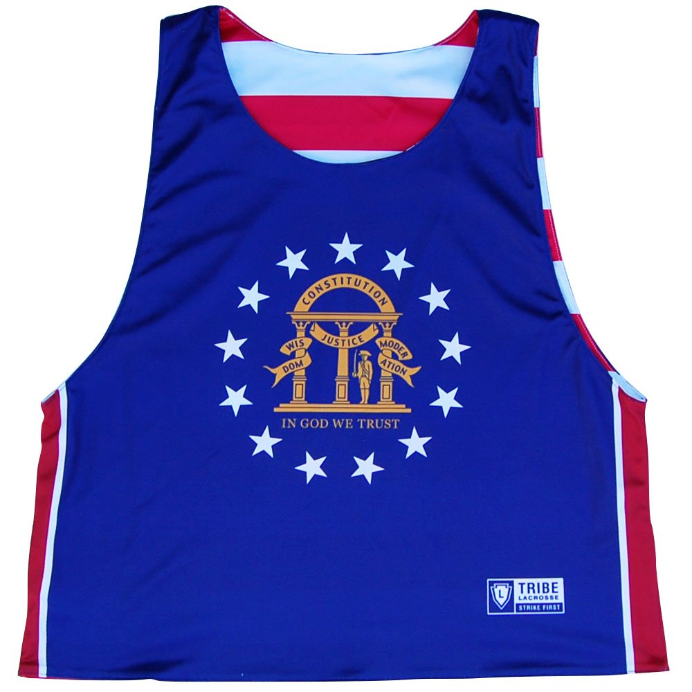 Georgia State Flag Reversible Lacrosse Pinnie