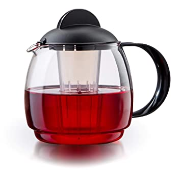 Boral Cristal té Jarra Microondas 1,8 L con colador de té + ...