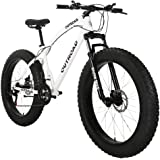 Max4out Fat Tire Mountain Bike 21 Speed 26 inch Wheels Double Disc Brake Suspension Fork Suspension Anti-Slip Bikes…