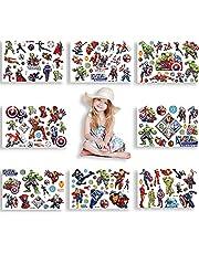 Superheld Tattoo Set, Avenger Tijdelijke Tattoo Set, Nep tatoeages Sticker, Superheld Nep tatoeages, Waterdichte Kinder tatoeages, voor Meisjes Jongens Verjaardagsfeestje Decoratie, 8 Vellen