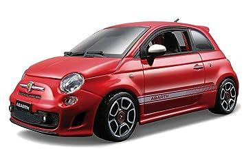 Amazoncom Fiat 500 Abarth Red  Bburago 22111  124 scale