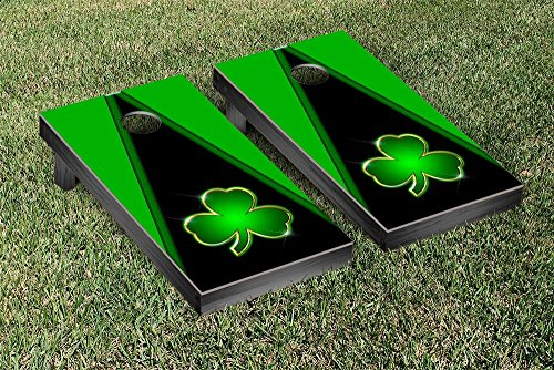 Victory Tailgate Shamrock Bling Triangle VersionCornhole Game Set by Victory Tailgate