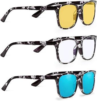 NEW Computer GlassesGaming Glasses2 PackAnti Blue Light /& UV Protection