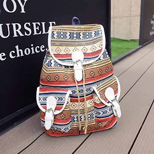 OME&QIUMEI Canvas Schultertasche Casual Pack Student Tasche orange Wuh4M