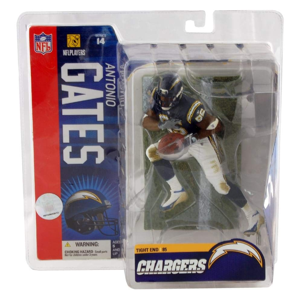 McFarlane Toys 6  NFL Series 14  Antonio Gates bluee Jersey