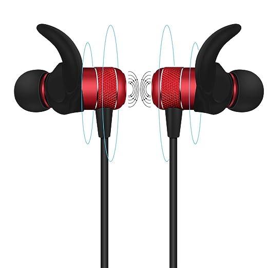 41 opinioni per Cuffie Bluetooth V4.2 auricolari bluetooth magnetiche HOBOTEK sport cuffie