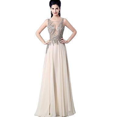 Favebridal Womens Long Tulle Applique Prom Dresses FYLN016ND-US16