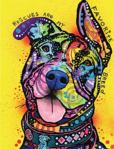 Dean Russo Rescues Are My Favorite Breed Journal (Quiet Fox Designs) 144 High-Quality, Acid-Free Lined Pages for a Dream Diary or Journaling, with Vibrant Cover Art from Brooklyn Pop Artist Dean Russo