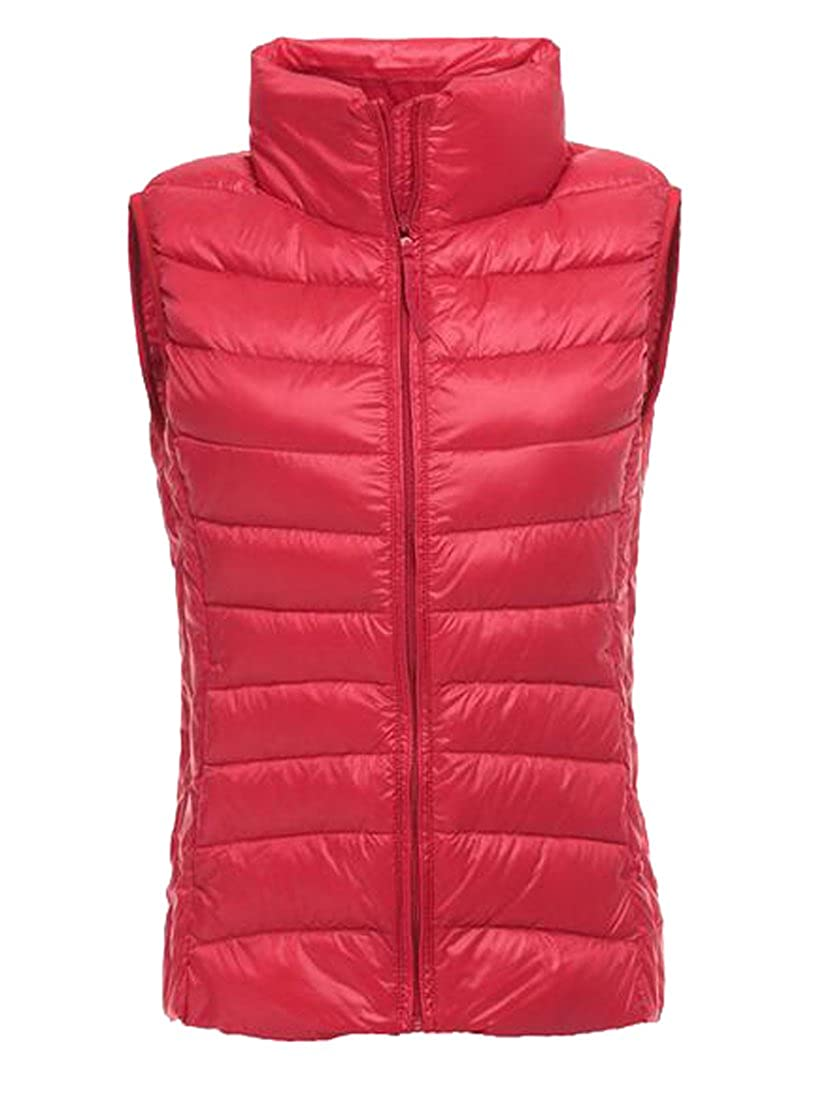 SYTX Womens Winter Sleeveless Lightweight Down Puffer Vest Outerwear
