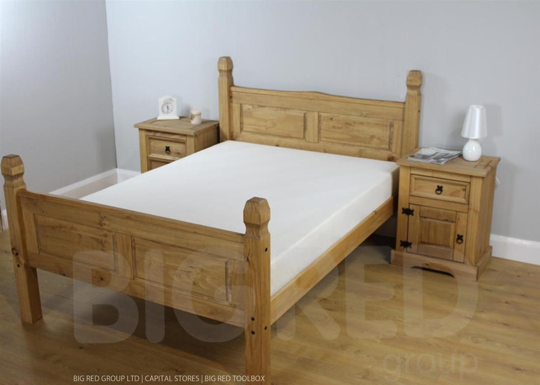 Corona Mexican Bed High Foot End Amazoncouk Electronics - Corona bedroom furniture sale