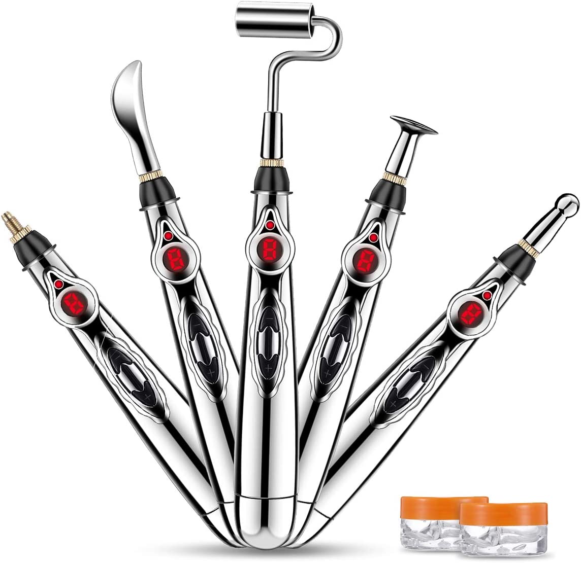 Acupuncture Pen,CAMTOA Electronic Acupuncture Pen,Meridian Acupuncture Pen with 5 Massage Energy Pain Therapy