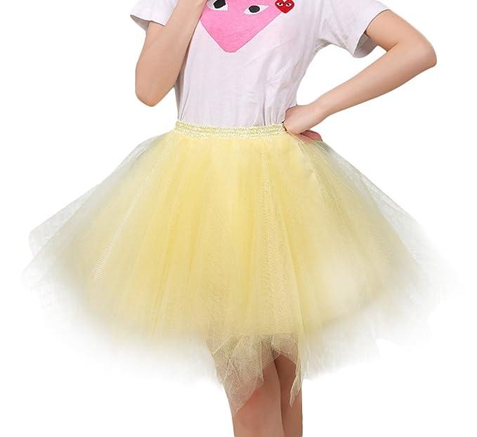 FEOYA Mujer Adultos Falda de Ballet Skirt Princesas Tutú de Tul para Baile Disfraces Fotografía Fiesta