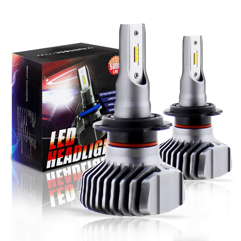 Boodled S1 Plus Series LED Headlight Bulbs All-in-One Conversion Kit -H13/9008(Hi/Low Beam),Newest ZES Chips 50W 6500K 10000Lumens, 9~32V.(Cool White). BOODLIED