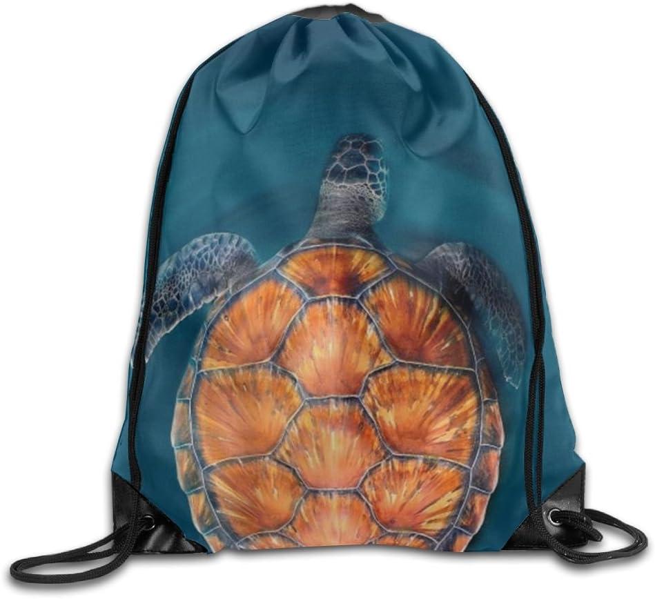 Turtle2 Drawstring Backpack Rucksack Shoulder Bags Training Gym Sack For Man And Women