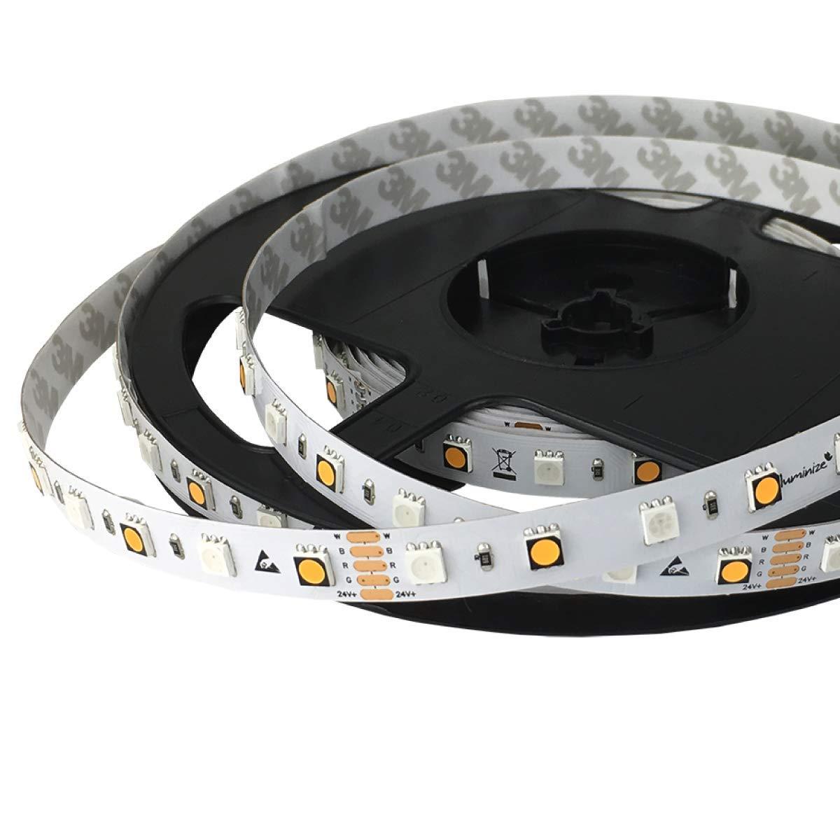 Iluminize LED-Streifen LED-Streifen LED-Streifen RGB+W  sehr hochwertiger LED-Streifen RGB+W (2700K Ra 95) mit 60 LEDs pro Meter, hoch selektiert, 24V, 16,5W pro Meter (IP65 NANO Rolle 5m) d171df