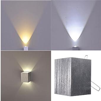 Luminaire 3w Kingso Installez Murale Applique De Mur 86 Interieur Dissimuler 12v Argent Led 265v 300ma3 6 Square Lampe Modern Blanc PikXZOu