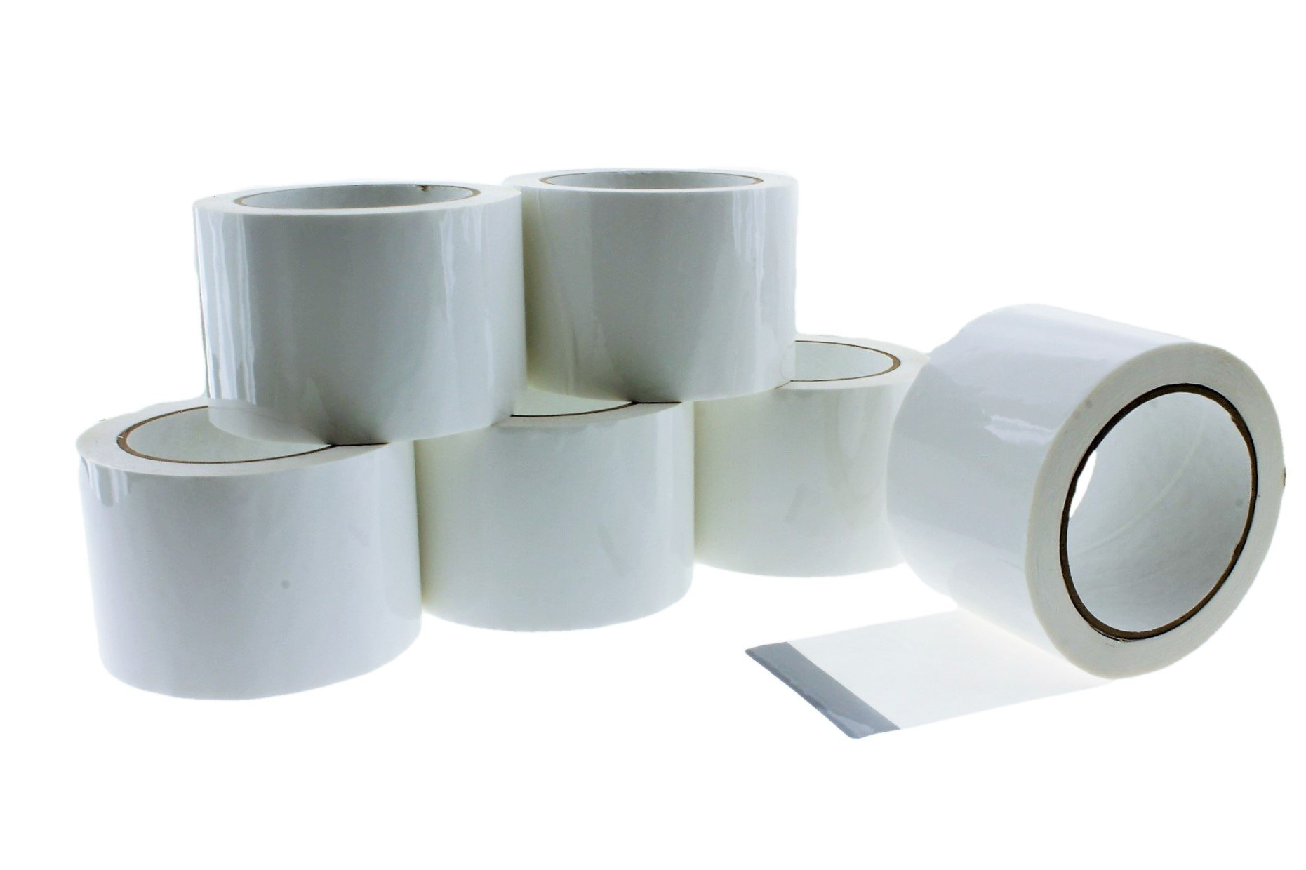 6pk 3'' in x 60 yd White House Wrap Tape Sheathing Building Wrapping Housewrap Sheath Tape Insulation Seaming Plastic Sheets Sealing TYVEK Construction Moisture Dust barrier Asbestos Abatement by TapeSmith