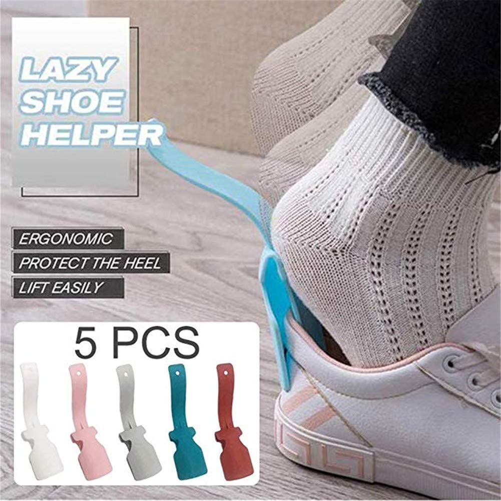 Easy on Easy off YOMOZEM Lazy Shoe Helper Shoe Horn Boot Horn Shoe Horn Shoe Lifting Helper Suitable for Adult Men and Women Shoes Plastic Lazy Shoes Pull Shoes Portable Sock Slider Handled Easy