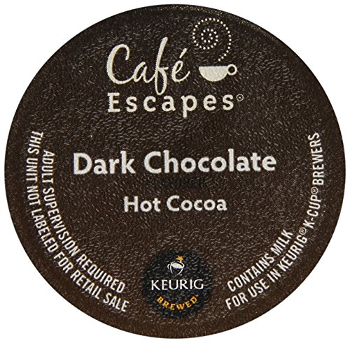 Green Hot Chocolate - Cafe Escapes Dark Chocolate Hot Cocoa K-Cups-6.35Oz Box