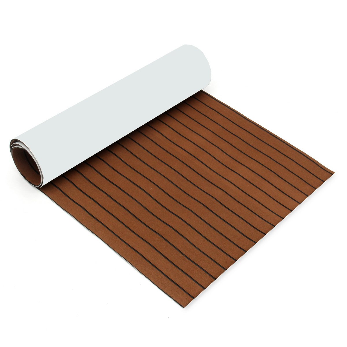 CoCocina 900x2400x5.5mm Dark Brown EVA Foam Teak Boat Flooring Sheet Yacht Synthetic Teak Decking Pad