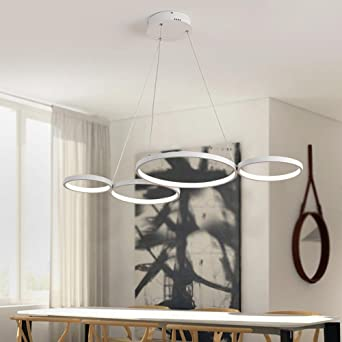 AuBergewohnlich LED Pendelleuchten Modern Elegant 4 Ring Runden Entwurf Pendellampe  Hängelampe Für Schlafzimmer Wohnzimmer Küche Insel Esszimmer Studie Büro  Anhänger ...