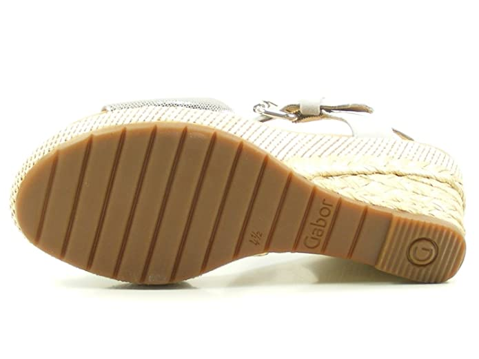 Gabor 82 824 Damen Sandalen Plateau Keil Sandaletten Weite G