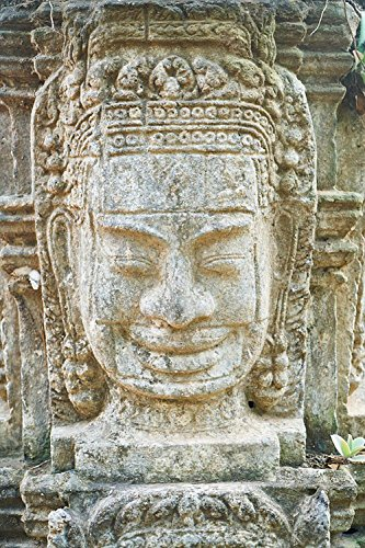 Gifts Delight LAMINATED 24x36 inches POSTER: Cambodia On Temple Photography Aesthetics People Travel Prayer Buddhism Religion Buddhist Worship Asian Faith Day Ritual Light God Documentary Historical by Gifts Delight