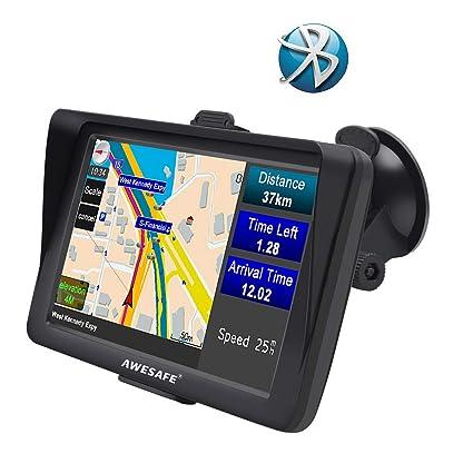 """GPS para Coche Pantalla de 7"""" Nüvi con Bluetooth Sat Nav Navigator para camión y"""