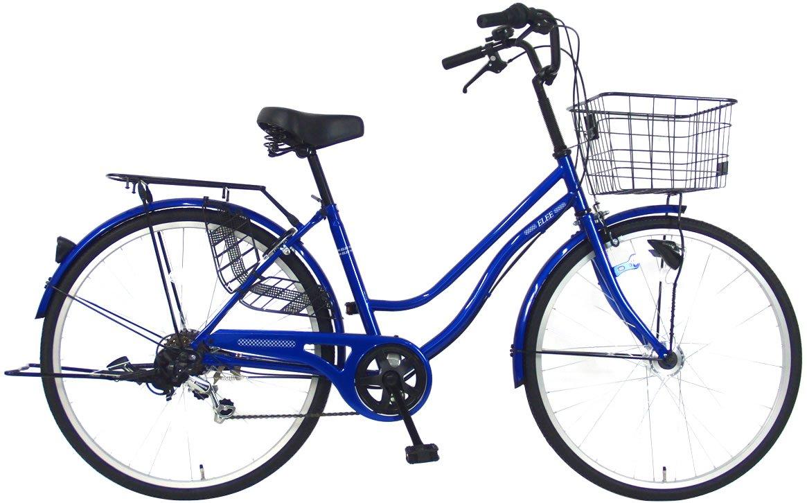 C.Dream(シードリーム) エリーオートライト EL66-H 26インチ自転車 シティサイクル ブルー 6段変速 100%組立済み発送 B078TYK6C3