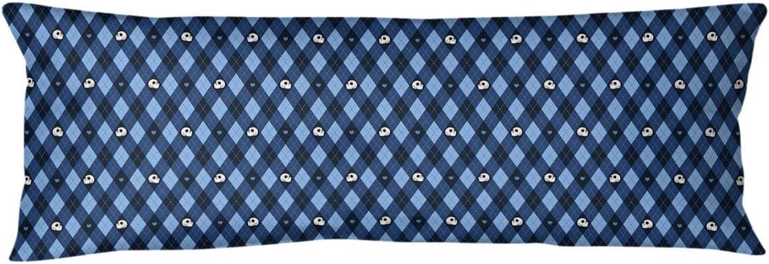 Amazon Com Artverse Katelyn Elizabeth Argyle Skulls Pattern Body Pillow W Removable Insert 20 X 54 Blue Home Kitchen