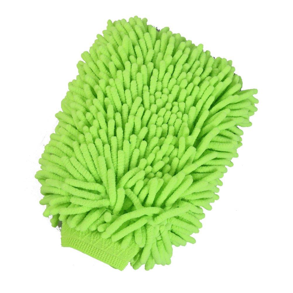 Scratch Free Lint Free High Density Ultra-soft Microfiber Wash Glove Premium Car Wash Mitt Lime Green