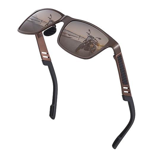 63b15ad73a6 Mens Retro Polarized Sunglasses Classic Aluminum Magnesium Metal Frame  Ultra Lightweight Sun Glasses Retro UV Protection