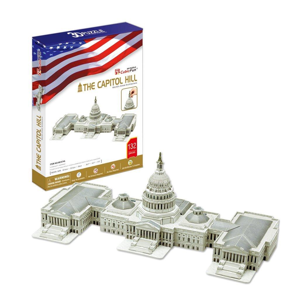 CubicFun MC074h The U.S. Capitol 3d Puzzle, 132 Pieces Pro-Motion Distributing - Direct