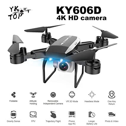 Profesional KY606D RC Drone Plegable Tiempo de Vuelo Largo FPV ...