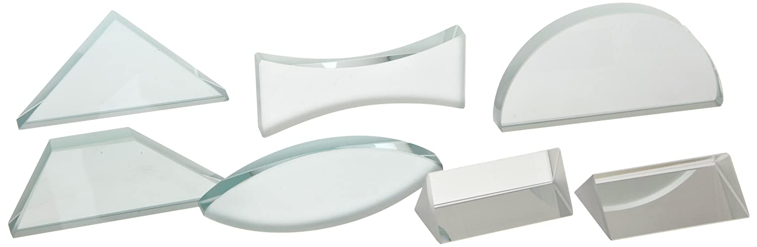 American Educational 7 Piece Glass Lens and Prism Set