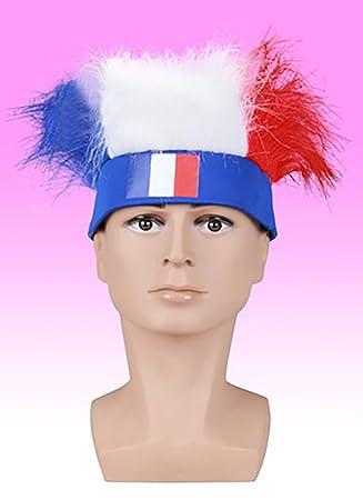 ... Copa del Mundo, sombrero de fans de fútbol peluca bandera nacional, regalo especial para tu familia/Vos amigos/fans de fútbol - francés: Amazon.es: ...