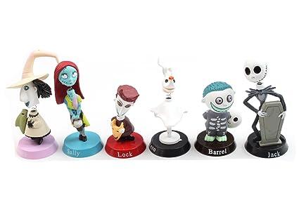 western animation nightmare before christmas figures toys 6 pcs set jack skellington 5cm 8cm